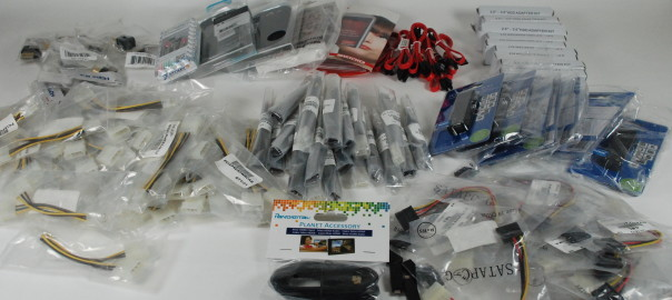 Don't miss out on this Wholesale Clearance Lot of Electronics Computer Components Headphones, Mobile accesories, HDMI, ATX Cables, Angle Adapters, SATA Cables
