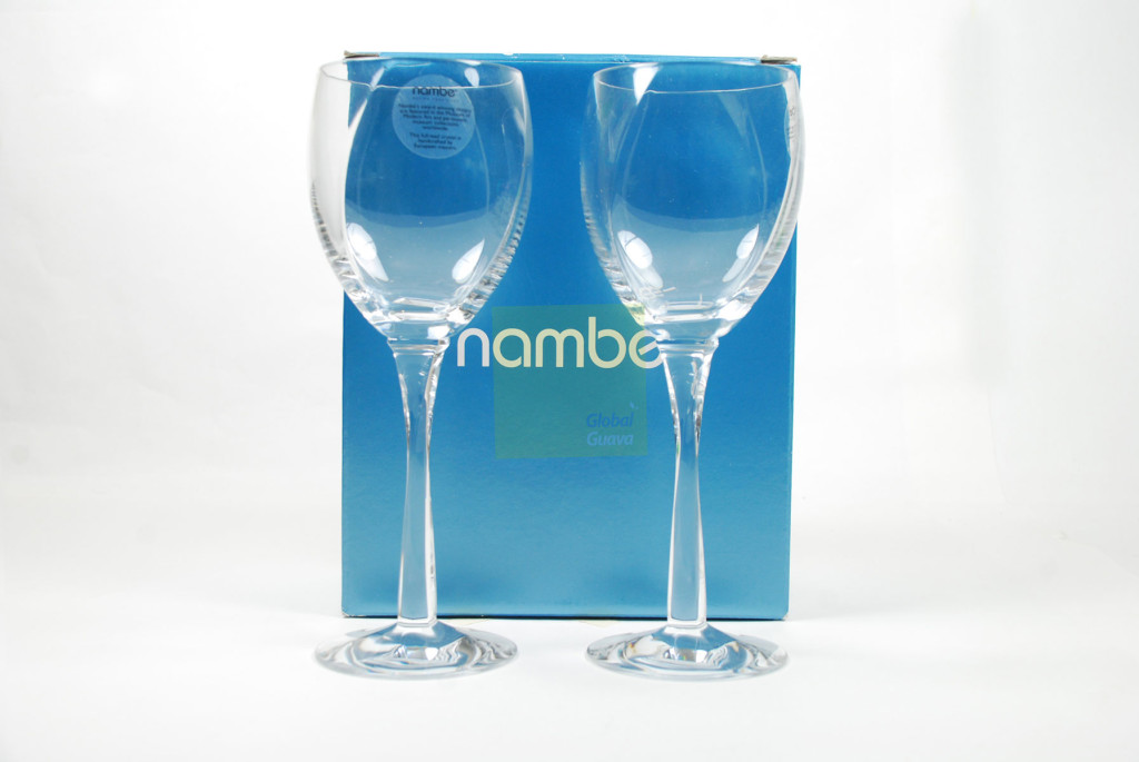 "NAMBÉ Crystal Set of 2 Twist Wine Glasses 9"" 12 oz. Nambe Pair Stemware 5892"