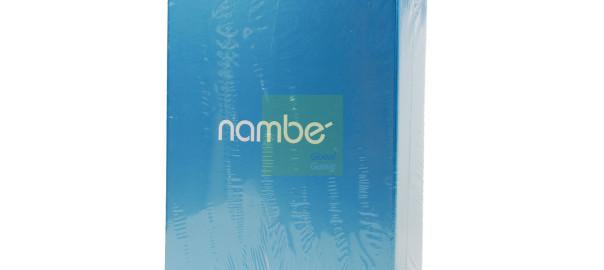 NAMBÉ Set of 2 Motus Goblet Pink Glasses 16 oz Nambe Pair Stemware Crystal 5886