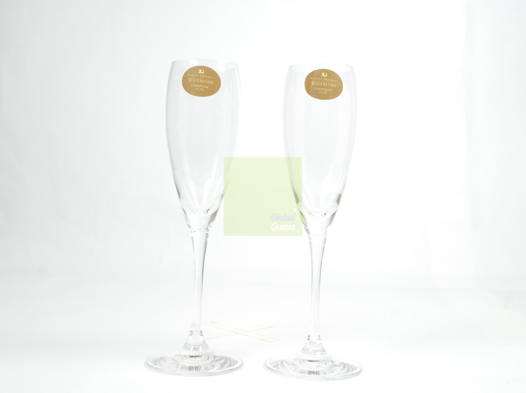 ROBERT MONDAVI by Waterford Pair of Champagne Flutes Wine Tasting Collection