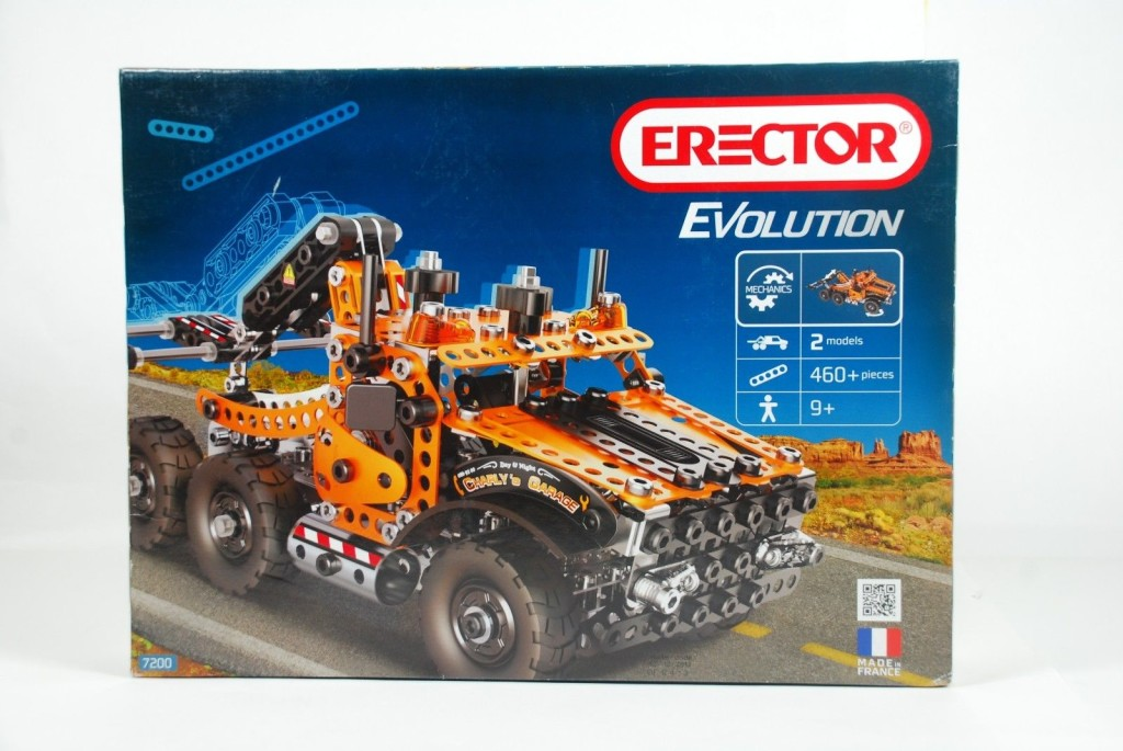 MECCANO ERECTOR EVOLUTION Tow/Dump Truck Toy Building Set - 460+ Pieces #7200
