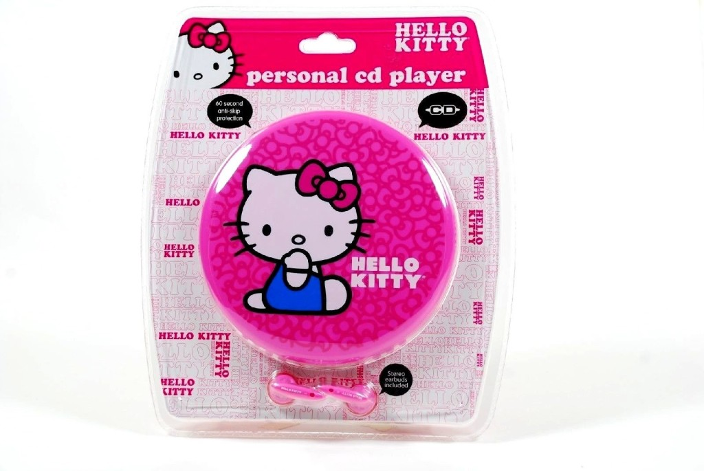 SANRIO Hello Kitty Portable Personal CD Player with Stereo Earbuds Included - Model# KT2035P