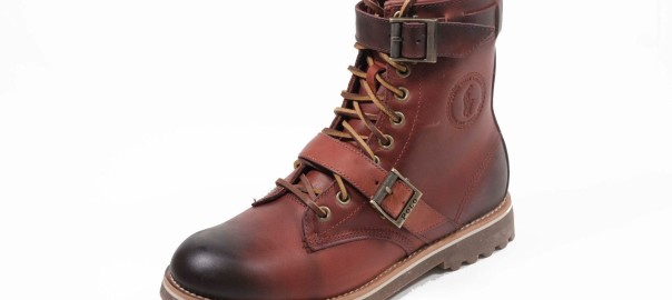 POLO RALPH LAUREN Maurice Oil Pull Up Leather/Wool Men's Casual Boot Syrup Brown
