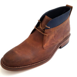 Cole Haan Men's Colton Winter Chukka Leather Boots in Copper Brown