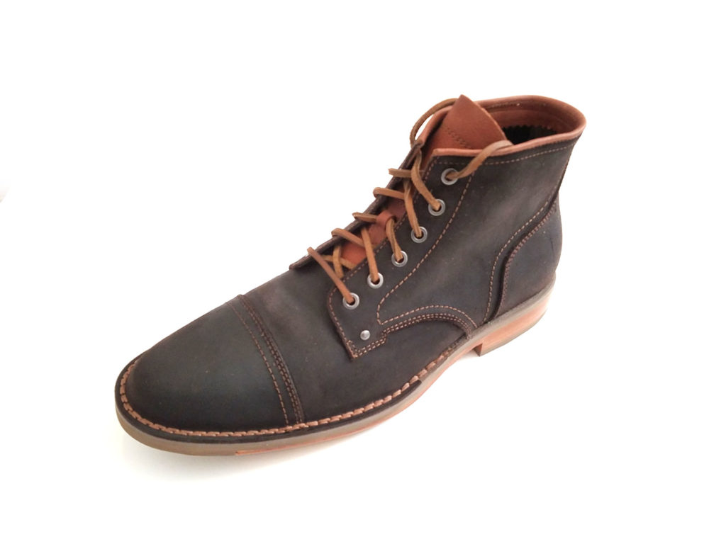Cole Haan Men's Canton Stitch Cap Toe Rugged Boot II in Chestnut Leather C20065